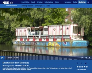 Das Hamburg Journal berichtet über über die Feierlichkeiten auf dem Hoheluftschiff.